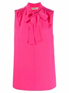Emilio Pucci pussy bow sleeveless blouse - PINK