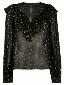 Sandro Paris Lunea metallic dotted blouse - Black