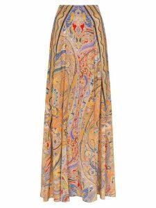 Etro paisley print maxi skirt - Multicolour