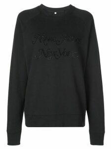 Marc Jacobs rhinestone logo sweatshirt - Black