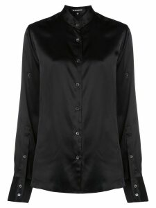Ann Demeulemeester band collar long sleeve blouse - Black