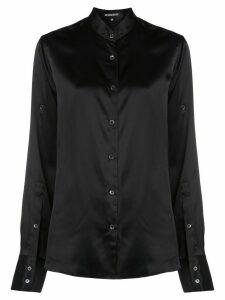 Ann Demeulemeester band collar long sleeve blouse - Black