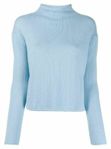 Ermanno Scervino mock-neck knitted jumper - Blue
