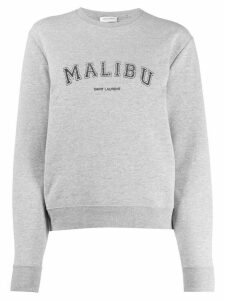 Saint Laurent Malibu crew neck sweatshirt - Grey
