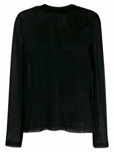032C mesh T-shirt - Black