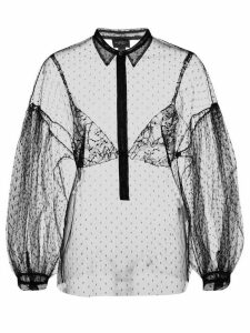 Giambattista Valli sheer lace shirt - Black