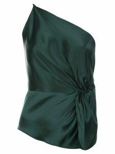 Michelle Mason twist knot silk top - Green