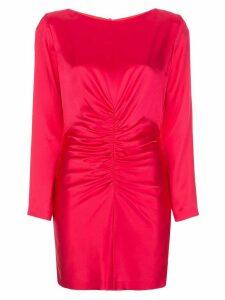 Michelle Mason rushed silk mini dress - PINK