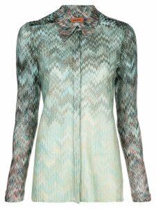 Missoni ombré zigzag-pattern shirt - Green