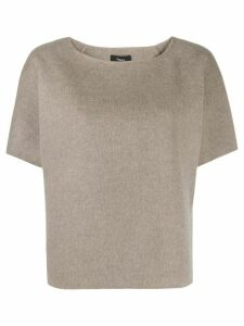 Theory loose-fit crew-neck top - NEUTRALS