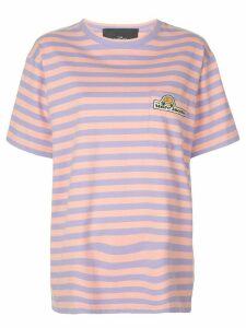 Marc Jacobs oversized striped T-shirt - PINK