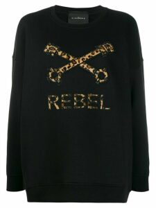 John Richmond logo oversize sweatshirt - Black