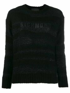 John Richmond metallized logo jumper - Black