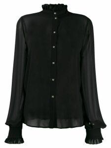 John Richmond ruffle trimming shirt - Black