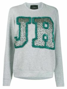 John Richmond Binga rhinestone logo sweatshirt - Grey