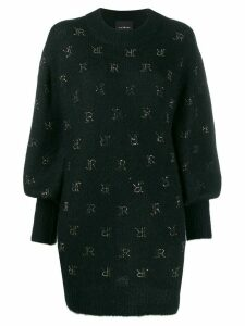 John Richmond stud-logo oversized knitted jumper - Black