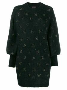 John Richmond stud-logo oversized knitted jumper - Black