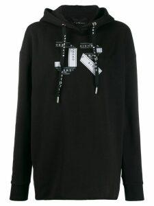 John Richmond Rava logo band hoodie - Black