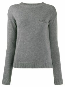 John Richmond logo embroidered crew neck sweatshirt - Grey