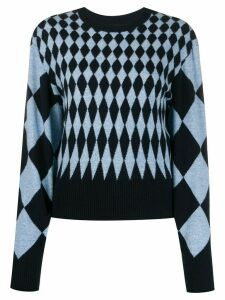 Pringle of Scotland diamond-intarsia sweater - Blue