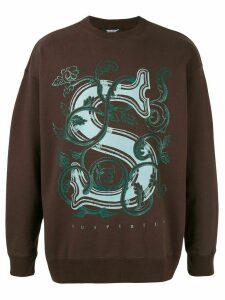 Undercover Suspirium floral sweatshirt - Brown