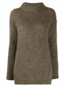 Erika Cavallini turtle-neck knit jumper - Green