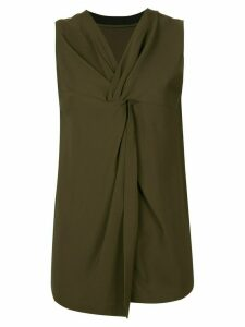 3.1 Phillip Lim Twisted-Back Tank Top - Green