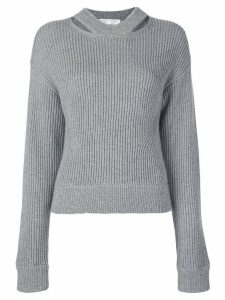 Proenza Schouler White Label Chunky Rib Knit Sweater - Grey