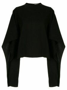 AKIRA NAKA draped design jumper - Black