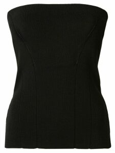 AKIRA NAKA long sleeve bustier shirt - Black