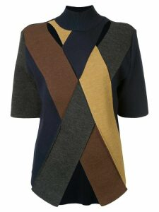 AKIRA NAKA paneled colour block jumper - Multicolour