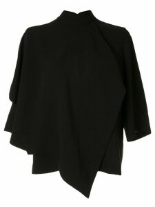 AKIRA NAKA draped design blouse - Black