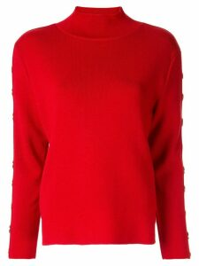 AKIRA NAKA button embellished jumper - Red