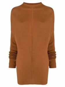Rick Owens mock neck jumper - Brown