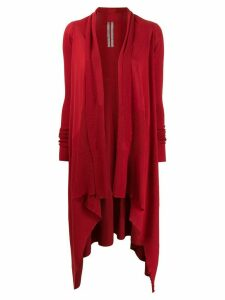 Rick Owens long asymmetric cardigan - Red