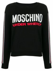 Moschino Under Where? print sweatshirt - Black