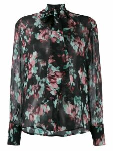 L'Autre Chose floral silk blouse - Black