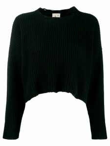 L'Autre Chose cropped ribbed jumper - Black
