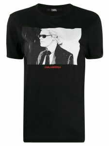 Karl Lagerfeld quote-print Karl T-shirt - Black