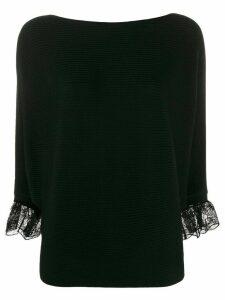 Chloé lace-trimmed jumper - Black