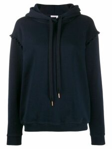 See by Chloé scalloped trim hoodie - Blue