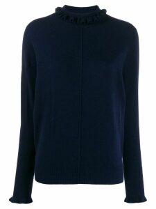Chloé ruffled neck jumper - Blue