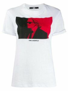 Karl Lagerfeld quote-print Karl T-shirt - White