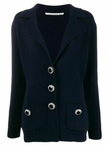 Alessandra Rich buttoned V-neck cardigan - Blue