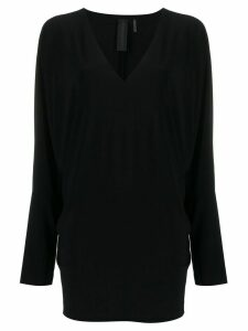 Norma Kamali V-neck dolman-sleeve T-shirt - Black