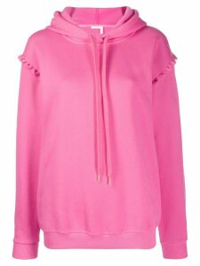 See By Chloé oversized scalloped trim hoodie - PINK