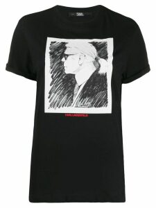 Karl Lagerfeld profile print Karl T-shirt - Black