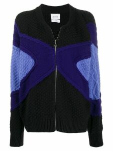 Barrie zip-front knitted cardigan - Black