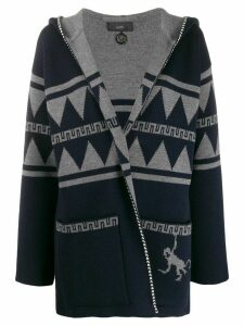 Alanui hooded open-front cardigan - Blue