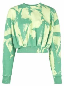 Off-White tie-dye effect sweatshirt - Green